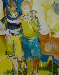 zwei freunde (2011), 100 x 80 cm