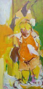 Am Wasser (Leonie) (2011), 80 x 40 cm