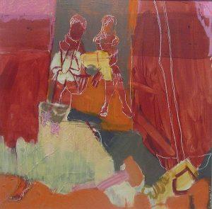 freundinnen (2011), 40 x 40 cm