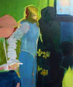 im gespräch (2010), 100 x 80 cm