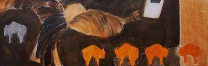 herdentrieb (2005), 30 x 90 cm