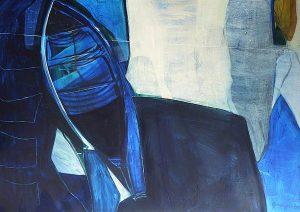 Deep Blue (2002), 100 x 140 cm, (Privatbesitz)