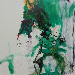 tanzende (2013), 40 x 40 cm