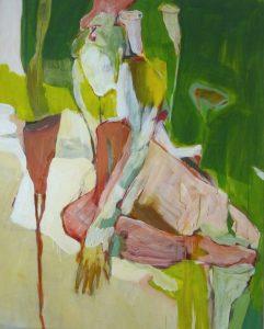 Akt mit Lilie (2011), 100 x 80 cm
