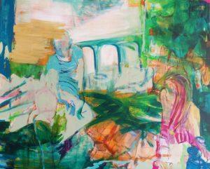 Zweier ohne (2014), 120 x 150 cm