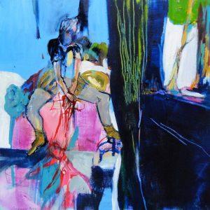 Marionetten (2017), 40 x 40 cm (Privatbesitz)